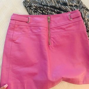 💓Pink COACH leather skirt NWT 💓